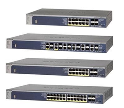 Коммутаторы NETGEAR ProSafe GSM5212P, GSM7212F, GSM7212P и GSM7224P упрощают построение конвергированных сетей