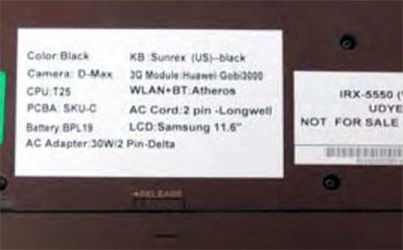 На сайте FCC появились снимки мобильного компьютера Sony VAIO VCC111 Chromebook