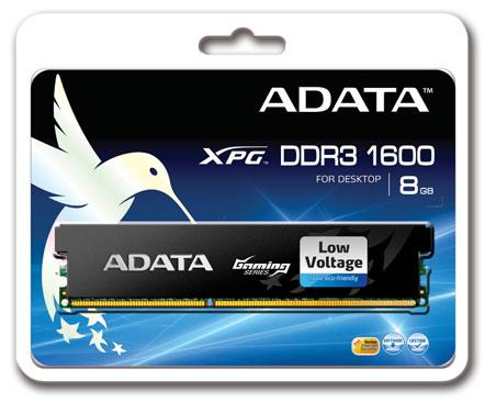 ADATA включает в серию модулей памяти XPG DDR3-1600 модель объемом 8 ГБ