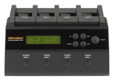 Устройство Aleratec 1:3 HDD Copy Dock Duplicator можно использовать для копирования жестких дисков и в качестве стыковочной станции