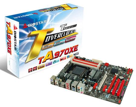 Системная плата BIOSTAR TA970XE рассчитана на процессоры AMD в исполнении AM3+