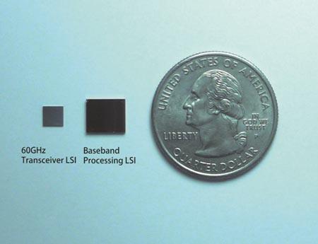 В Panasonic создан чипсет для связи в диапазоне 60 ГГц на скорости 2,5 Гбит/с, потребляющий менее 1 Вт