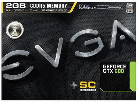 3D-карты GeForce GTX 680 SuperClocked появились в онлайновом магазине EVGA