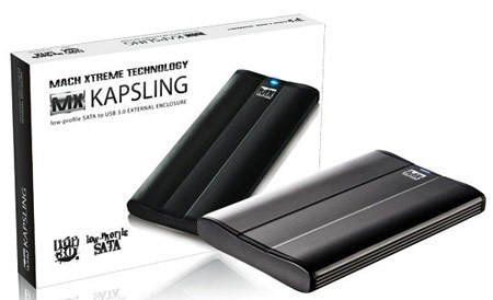 Mach Xtreme Technology предлагает корпус MX-KAPSLING для внешнего SSD