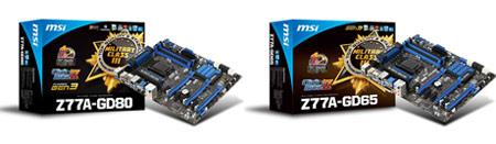 MSI представила системную плату MSI Z77A-GD80 с интерфейсом Thunderbolt и девять моделей на чипсетах 7-й серии