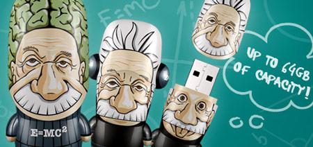 Mimoco отметила 133-летие Эйнштейна выпуском «флэшек» Emcee<sup>2</sup> Einstein и Brainstein MIMOBOT