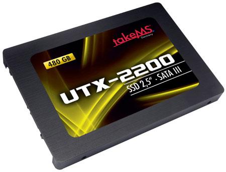 Твердотельные накопители takeMS UTX-2200 оснащены интерфейсом SATA 6 Гбит/с