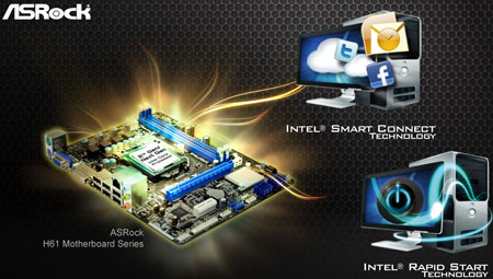 Бюджетные системные платы ASRock H61 смогут принять процессоры Ivy Bridge