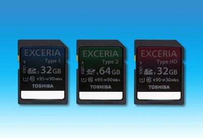 Карты памяти Toshiba EXCERIA
