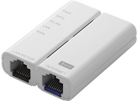 Миниатюрный беспроводной маршрутизатор Logitec LAN-W300N/RSx ориентирован на путешественников