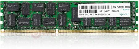 Модули памяти Apacer DDR3-1600 ECC RDIMM предназначены для серверов