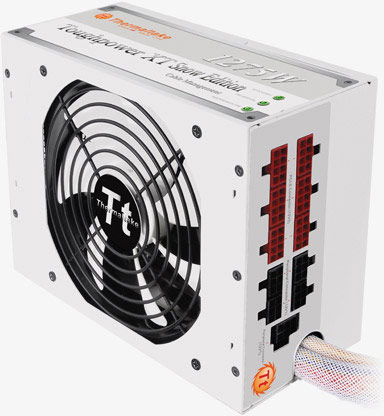 Thermaltake окрашивает блок питания Toughpower XT 1275W Platinum Snow Edition в белый цвет