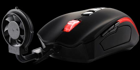 Thermaltake оснащает мышь BLACK Element Cyclone съемным вентилятором