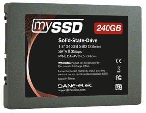 Для твердотельных накопителей Dane-Elec mySSD O-Series выбран типоразмер 1,8 дюйма