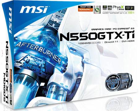 3D-карта GeForce GTX 550 Ti с печатной платой собственной разработки MSI будет дешевле клонов референсного образца