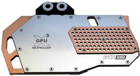 водоблок для GeForce GTX 680 стоит 95 евро