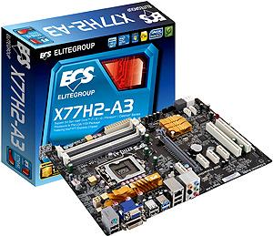 Системная плата ECS X77H2-A3 бюджетного сегмента напоминает модель Z77H2-A3