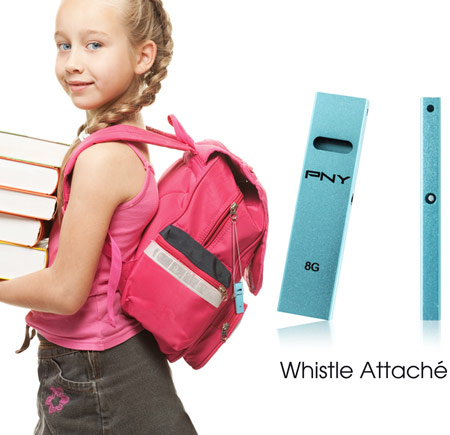 PNY Introduces совмещает «флэшку» Whistle Attaché со свистком