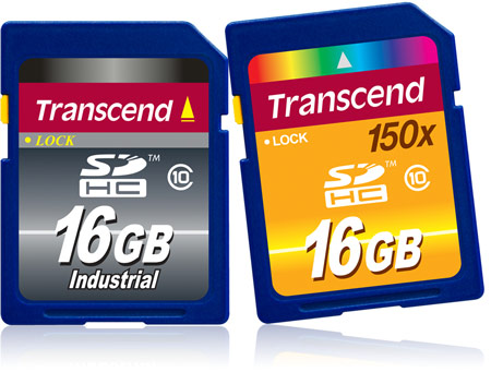Transcend использует в картах памяти SDHC флэш-память типа SLC NAND