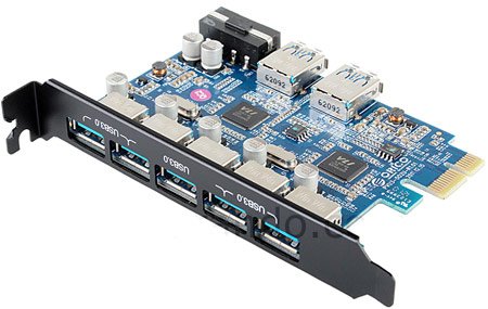 Новинка ORICO позволяет оснастить настольный ПК семью портами USB 3.0