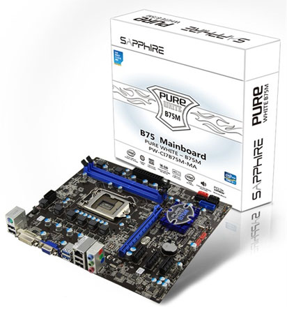 Sapphire Pure White B75M-MA