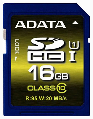 ADATA выпускает карты памяти Premier Pro SDHC и SDXC UHS-I