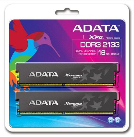 Объем наборов XPG Xtreme DDR3-2133X равен 8 и 16 ГБ
