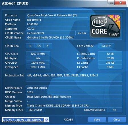 Интерфейс программы AIDA64 Extreme Edition