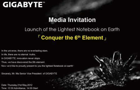 31 мая GIGABYTE собирается представить «самый легкий ноутбук на Земле»
