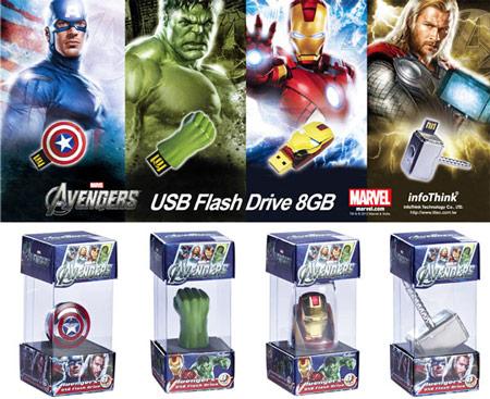 Альтернативный вариант коллекционных флэш-накопителей для поклонников фильма «Мстители»