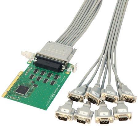 Карты расширения I-O Data RSA-PCI3R, RSA-PCI/P4R и RSA-PCI/P8R позволяют оснастить ПК портами RS-232C