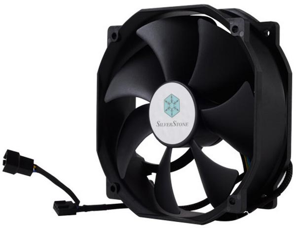 Вентилятор SilverStone FHP141 оснащен ограничителем максимальной скорости вращения