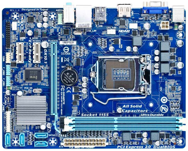 Системные платы Gigabyte GA-H61M-DS2 HDMI и GA-H61M-DS2 DVI относятся к начальному уровню