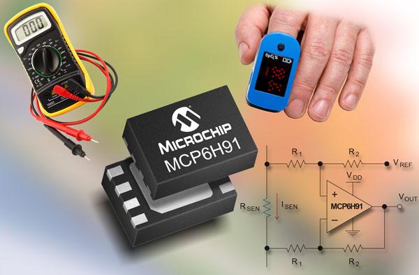 Операционные усилители MCP6H7X, MCP6H8X и MCP6H9X рассчитаны на напряжение питания 12 В