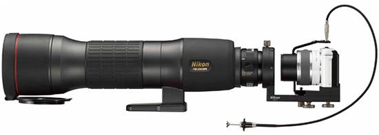 Адаптер и кронштейн Nikon DSA-N1 и DSB-N1 позволяют использовать подзорные трубы Nikon Fieldscope совместно с камерами Nikon 1