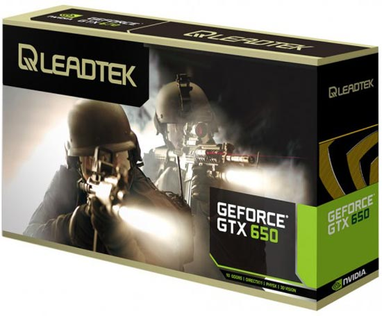 3D-карта Leadtek WinFast GTX 650 имеет короткую печатную плату, но занимает два слота