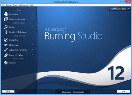 Скриншот программы Ashampoo Burn Studio 12