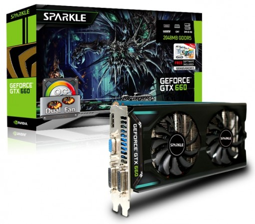 Ассортимент Sparkle пополнился 3D-картами GTX 660 OC Dual Fan, GTX 650Ti Super OC Dual Fan и GTX 650Ti OC Dual Fan