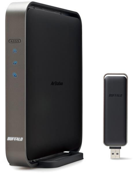 Комплект WZR-D1100H/U из роутера и адаптера стоит примерно $290