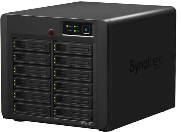 Сетевое хранилище Synology DiskStation DS2413+ рассчитано на 12 накопителей