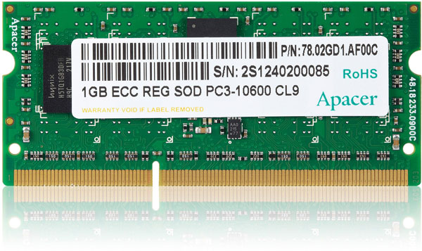 ������ Apacer DDR3-1333 SO-RDIMM ������� �� 4 �� ������������� ������������ JEDEC