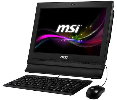 Моноблочный ПК MSI Wind Top AP1612 оснащен дисплеем размером 15,6 дюйма
