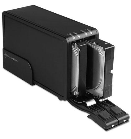 Доки для накопителей Sharkoon Vertical Docking Station оснащены интерфейсом USB3.0