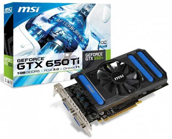 MSI GeForce GTX 650 Ti OC Edition