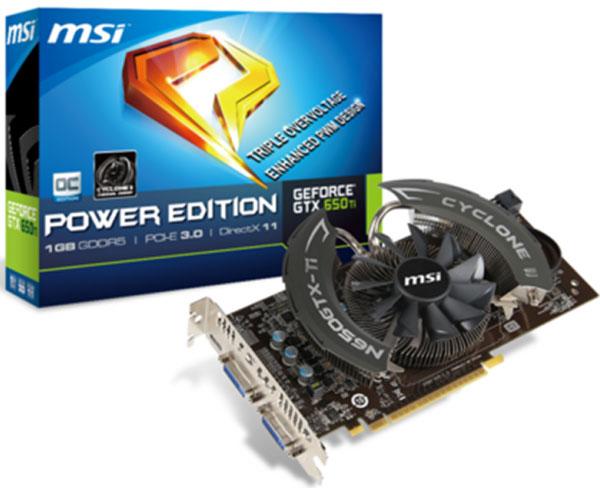 MSI готовит к выпуску 3D-карту GeForce GTX 650 Ti Power Edition на печатной плате собственной разработки