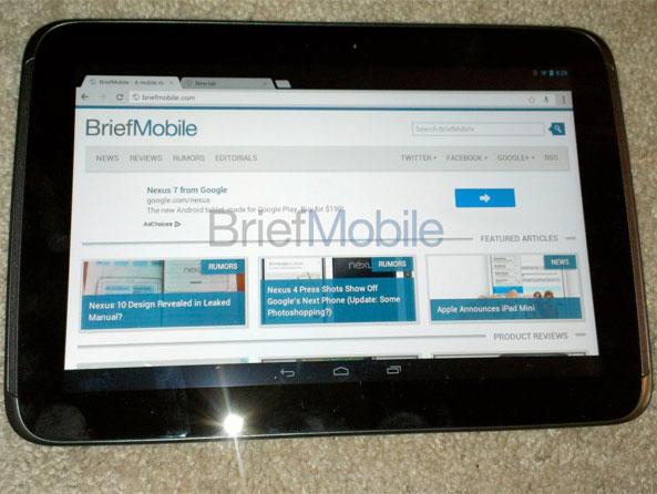 Партнером Google по выпуску планшета Nexus 10 является Samsung