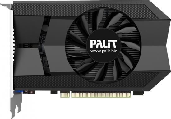 GPU 3D-карты Palit GeForce GTX 650 Ti 1GB OC GDDR5 работает на частоте 1006 МГц