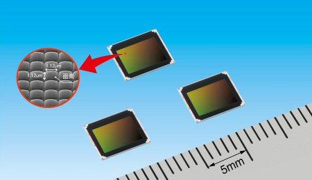 Впервые в датчике с прямой засветкой размер пикселя уменьшен до 1,12 мкм