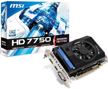 MSI Radeon HD 7750 OC V2 — попытка сделать разогнанную 3D-карту тише и дешевле