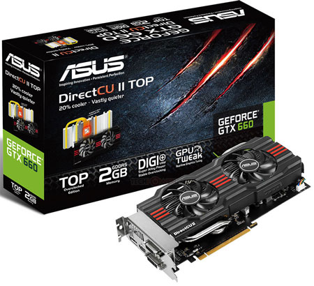 В числе новинок - 3D-карта ASUS GeForce GTX 660 DirectCU II TOP